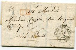 MARNE De CHALONS SUR MARNE LAC Du 09/12/1834 Avec Dateur T 13 + Cachet P.P. + Verso Taxe De 4 - Postmark Collection (Covers)