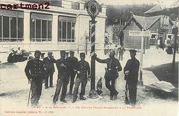 A LA SCHLUCHT GROUPE FRANCO-ALLEMAND A LA FRONTIERE DOUANIERS DOUANE 88 - France