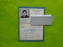 Carte D'identite Scolaire Ecole De Garcons Due D'alesia Paris Annee 1950-1951 - Transportation