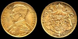 [DO] BELGIO - Alberto I 20 FRANCHI 1914 (Oro /Gold /Or) - 1909-1934: Albert I