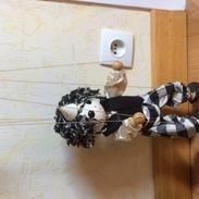 Marionnette En Bois Articulée Avec Fils - 34 Cm (du Chapeau Au Pied) - En Très Bon état Fabrication Française - Puppets
