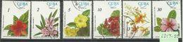 "Kuba 2217-22 ""6 Fische Verschiedener Arten Blumen Im Satz Kpl."" Gestempelt Mi.: 4,50 - Végétaux"