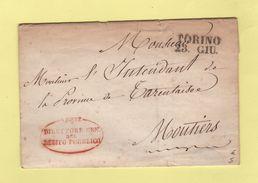 Torino  Franchise - Destination Moutiers - Franchise - Direttore Debito Pubblico - Sans Correspondance - Lombardy-Venetia