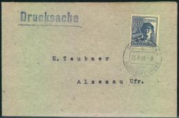 1948, Drucksache Mit 80 Pfg. Arbeiter In Zehnfachfrankatur Ab MICHELBACH über ASCHAFFENBURG - Zone AAS