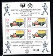 Bulgarije 1989 Mi Nr Blok 191 ; World Philatelic Exhibition Bulgaria 1989, Auto, Car - Bulgaria