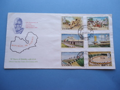 Covered Official First Day Cover, 23rd October, 1974. Republic Of Zambia - Zambia (1965-...)