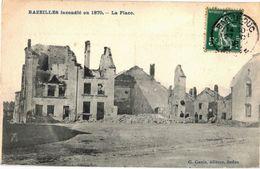 CPA N°660 -  BAZEILLES INCENDIE EN 1870 - LA PLACE - France