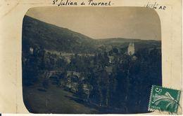 St Julien Du Tournel  Carte Photo  Rare Cpa - France
