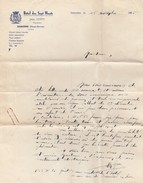 74 -  SAMOENS - Hôtel Des Sept-Monts - Jean COFFY Propriétaire - Lettre ( Format A4   21 Cm  X 29,7 Cm ) - Non Classificati