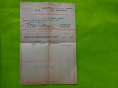 Guerre De 1939-1945 Soldat Au 13e BOA  Nature Et Description De L'invalidite -pension - Vieux Papiers