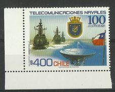CHILE 2004 NAVALK TELECOMMUNICATIONS  MNH - Cile