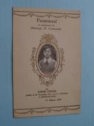 DEURNE - ZUID : Feestmaal H. COMMUNIE : Louis COOLS 13 Maart 1932 + XTRA DP ( Zie Foto Voor Details ) !! - Menus