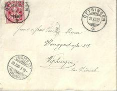 Brief  Oftringen - Zürich Wipkingen            1903 - Briefe U. Dokumente