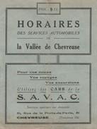 78 ( France ) - HORAIRES Des Services Automobiles De La Vallée De Chevreuse ( 12 Pages 11,3 Cm X 15 Cm ) Rare - Europe