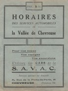 78 -  HORAIRES Des Services Automobiles De La Vallée De Chevreuse  ( 12 Pages 11,3 Cm X 15 Cm )   Rare - Europe