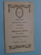 DEURNE : Feestmaal HUWELIJK : Melanie AERTS & August COOLS 30 Juni 1928 + XTRA DP + ....( Zie Foto Voor Details ) ! - Menus