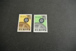 K11650- Set MNh Iceland - Island - 1967- SC. 389-390- YV. 364-365- Europa - CEPT - 1944-... Republik