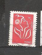 3734 La Marianne Des Français La Marianne De Lamouche Rouge Sans Valeur Faciale Timbre    France Oblitéré 2005 - France