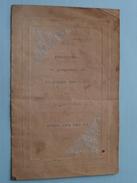 BORGERHOUT / DEURNE : ZILVEREN BRUILOFT 1888-1913 Maria Van Der AA & Louis COOLS + XTRA DP ( Zie Foto Voor Details ) ! - Menus