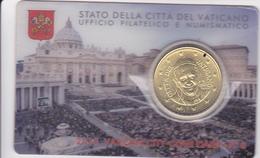 Vatican Coin Card 50 Cts N° 6 - 2015 Neuf Tirage 70000 Exemplaires - Vaticano (Ciudad Del)
