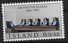 Islande 1970 N° 391  Neuf ** MNH Cour Suprême - Ungebraucht