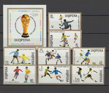 Albania 1974 Football Soccer World Cup Set Of 8 + S/s Imperf. MNH -scarce- - Coppa Del Mondo