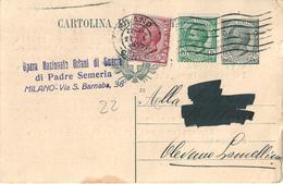 OPERA NAZIONALE ORFANI DI GUERRA Di PADRE SEMERIA  -  MILANO - Cartoline