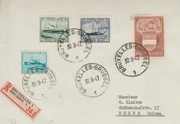 Belgie Brief 1947 Aangetekende Brussel - Berne Suisse - Covers & Documents