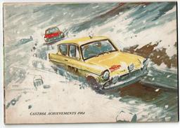 Castrol Achievements 1961 - Autos / Motos / Side-Car  / Avions - 48 Pages - Illustr. De Gordon Horner, Nombreuses Photos - Transporto