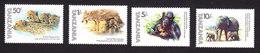 Tanzania, Scott #201-204, Mint Hinged, Animals, Issued 1982 - Tanzania (1964-...)