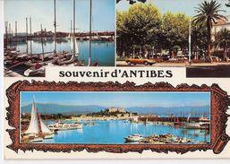 ANTIBES  Souvenir D'...  Un Coin Du Port  Place Général De Gaulle   Le Port, Vue Sur Le Port Carré - Cap D'Antibes - La Garoupe