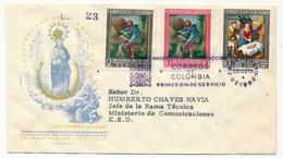 COLOMBIE - Enveloppe FDC - San Isidro Labrador + Nativité - Colombie