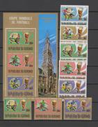 Burundi 1974 Football Soccer World Cup Set Of 8 + S/s Imperf. MNH -scarce- - Coppa Del Mondo