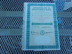 ATELIERS DE LA MOTOBECANE  (50 Francs) PANTIN - Actions & Titres