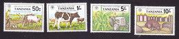Tanzania, Scott #209-212, Mint Hinged, World Food Day, Issued 1982 - Tanzania (1964-...)