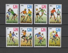 Rwanda 1974 Football Soccer World Cup Set Of 8 MNH - World Cup