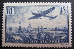 LOT R1703/424 - 1936 - POSTE AERIENNE - AVION SURVOLANT PARIS - NEUF* - Cote : 13,00 € - Airmail
