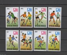 Rwanda 1974 Football Soccer World Cup Set Of 8 Imperf. MNH -scarce- - Coppa Del Mondo