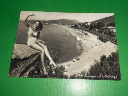 Cartolina Cavi Di Lavagna - La Spiaggia 1956 - Genova