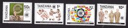 Tanzania, Scott #217-220, Mint Hinged, Commonwealth Day, Issued 1983 - Tanzania (1964-...)
