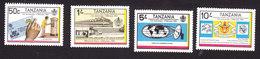 Tanzania, Scott #221-224, Mint Hinged, 5th Ann. Of Posts And Telecommunications Dept, Issued 1983 - Tanzania (1964-...)