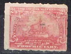 Sello PROPRIETARY U.S.A. 2 1/2 Ctvos 1898. Ship º - Revenues