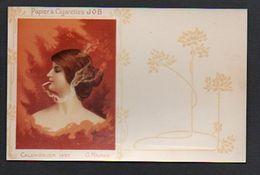 Publicité Papier à Cigarettes JOB Calendrier 1897 / Reproduction Photo Print ( Fond Neudin ) - Publicité