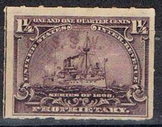 Sello PROPRIETARY U.S.A. 1 1/4 Ctvos 1898. Ship º - Revenues