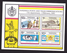 Tanzania, Scott #224a, Mint Never Hinged, 5th Ann Of Posts And Communications Dept, Issued 1983 - Tanzania (1964-...)