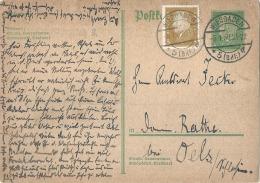 Allemagne Entier Postal - Guerre Avec Visa Censure - Carte Entier Postal Supplémenté - Allemagne