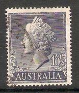 005087 Australia 1955 1/01/2d FU - 1952-65 Elizabeth II : Pre-Decimals