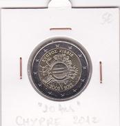 Chypre Pièce 2 Euro Commémorative Année 2012 10 Ans Des Pièces Et Billets Euros - Chipre