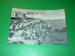 Cartolina Bellaria - Spiaggia 1959 - Rimini