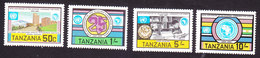 Tanzania, Scott #225-228, Mint Hinged, 25th Ann Of Economic Commission For Africa, Issued 1983 - Tanzania (1964-...)